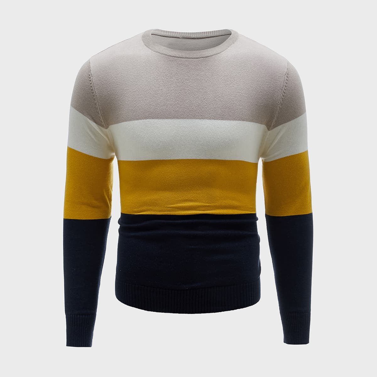 Men Color Block Sweater