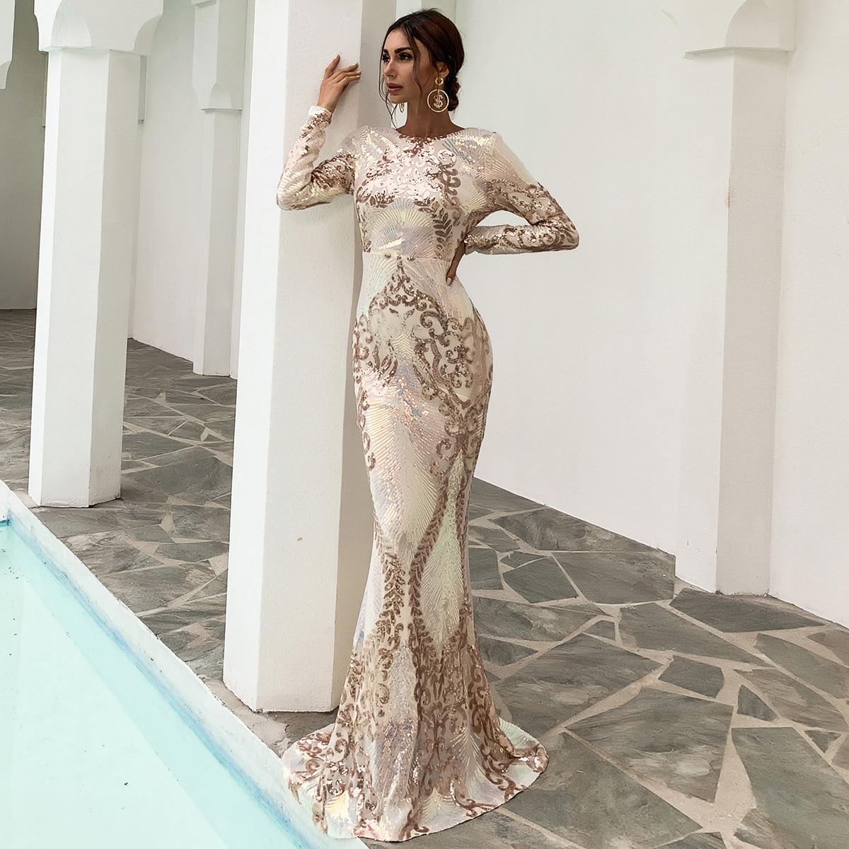 Платье-русалка с блестками
