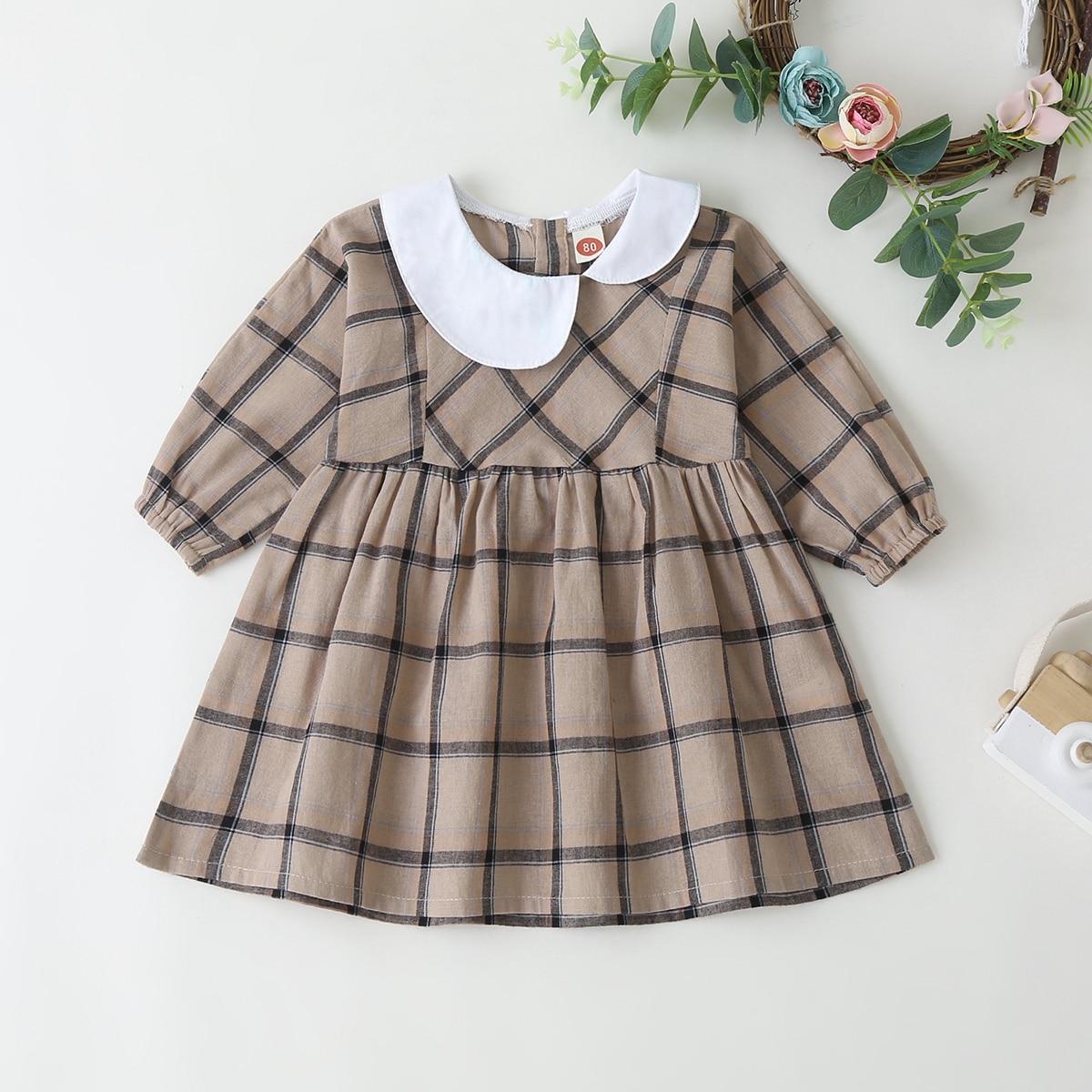Платье в клетку для девочек от SHEIN