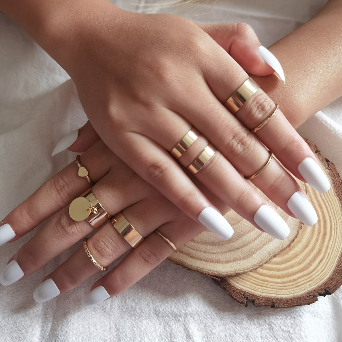 Disc & Heart Decor Ring, SHEIN  - buy with discount