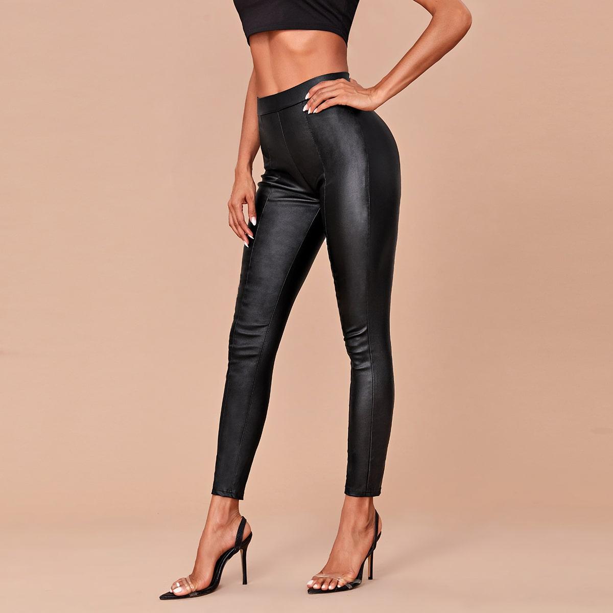Короткие джинсы с высокой эластичностью