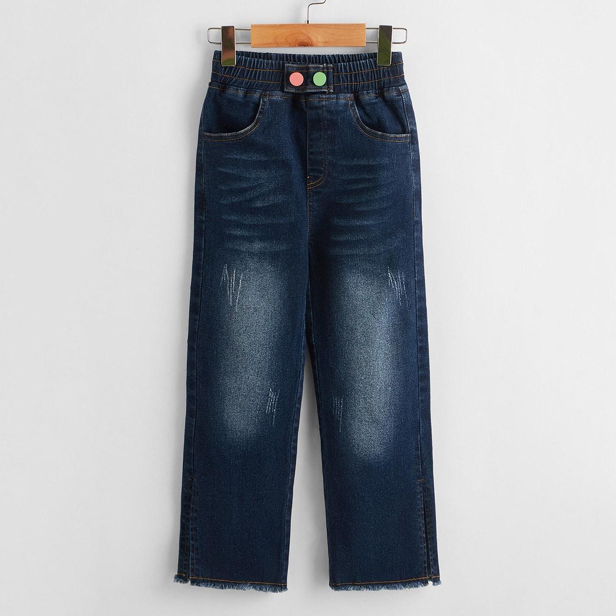 Прямые джинсы для девочек