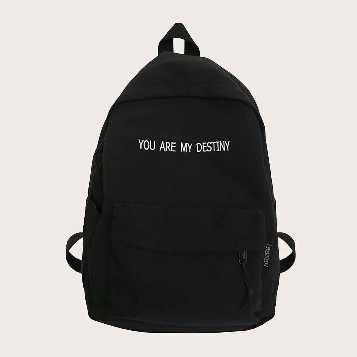 Рюкзак большой емкости с текстовым принтом