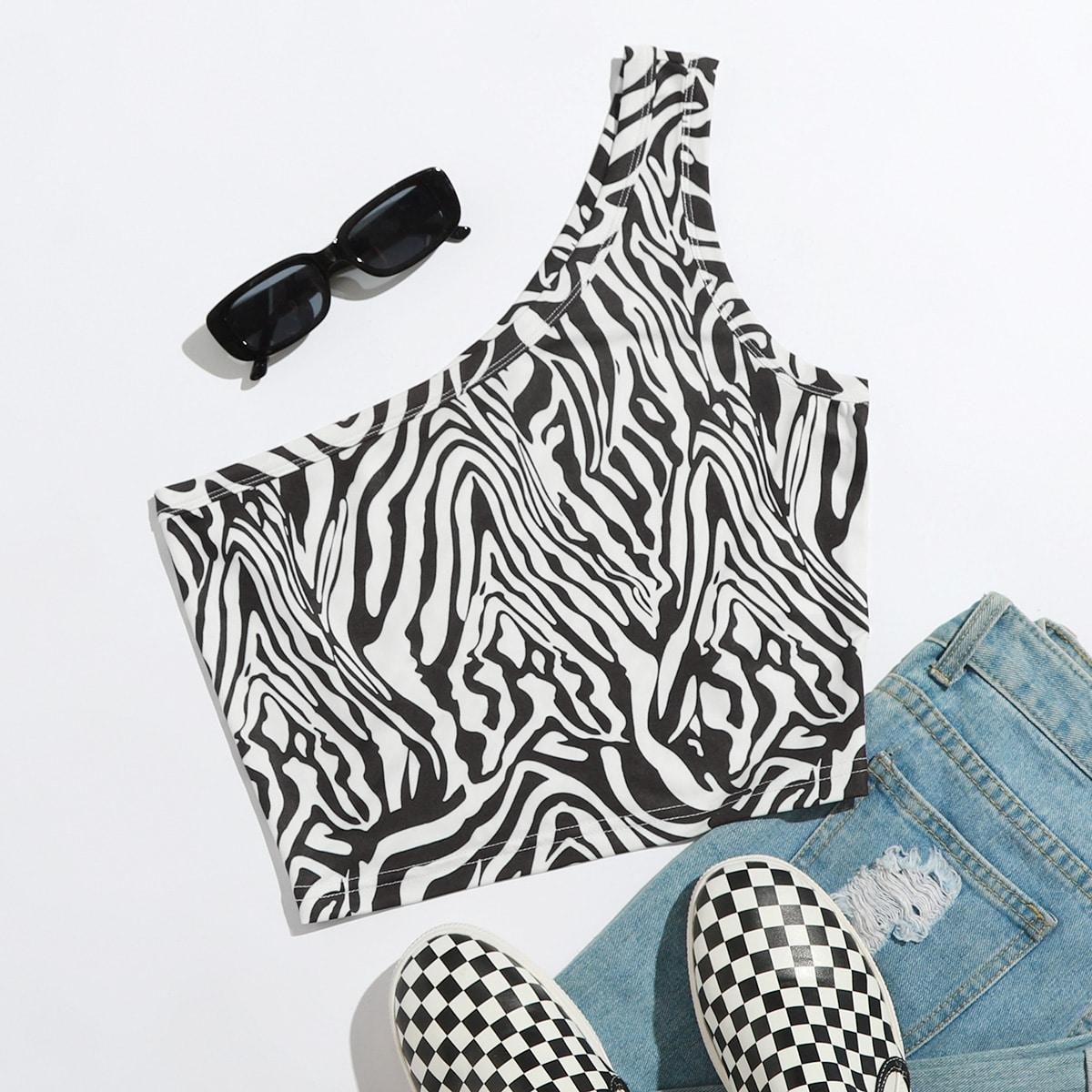 Casual Zebra print Dame top
