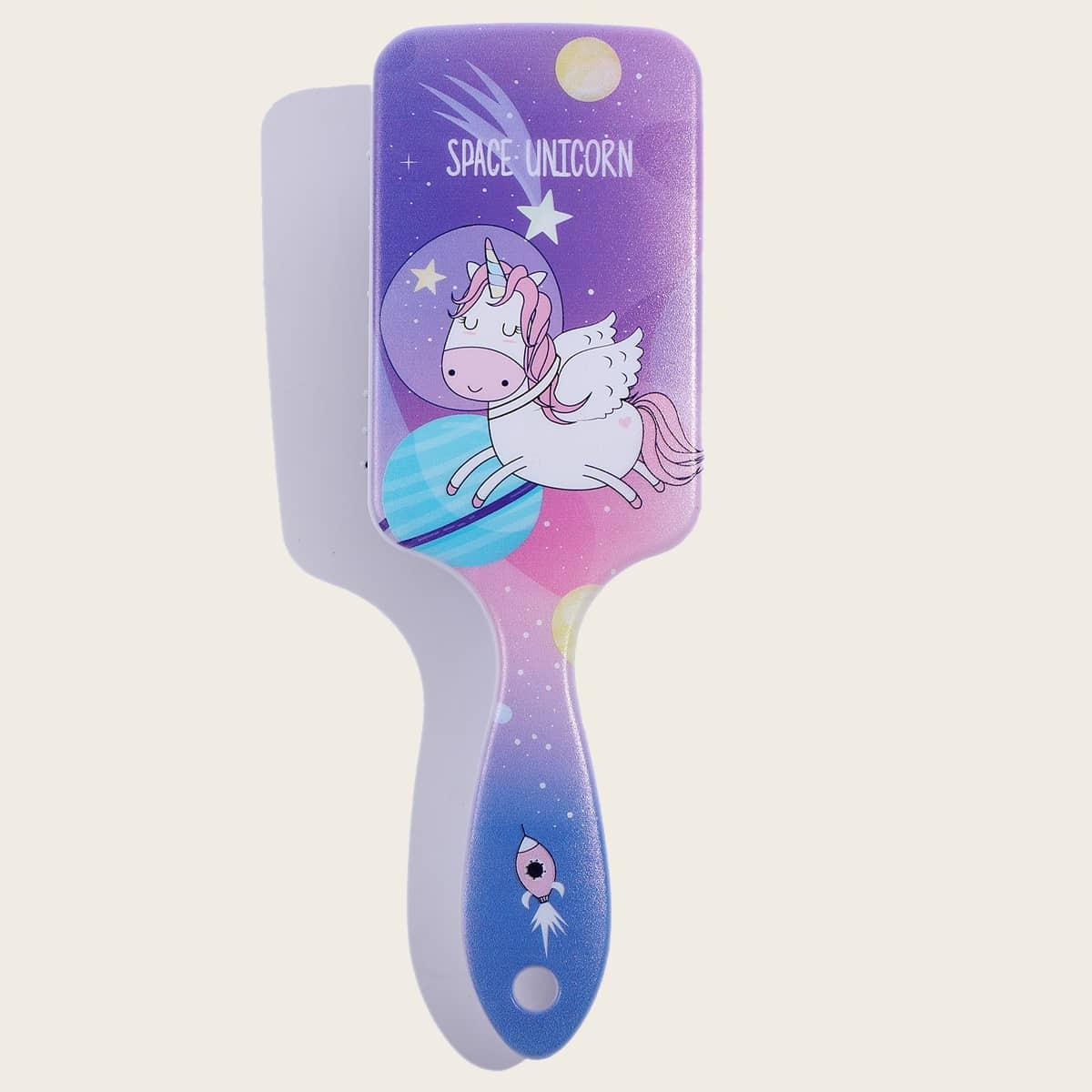 1шт массажная расческа для волос с мультипликационным принтом