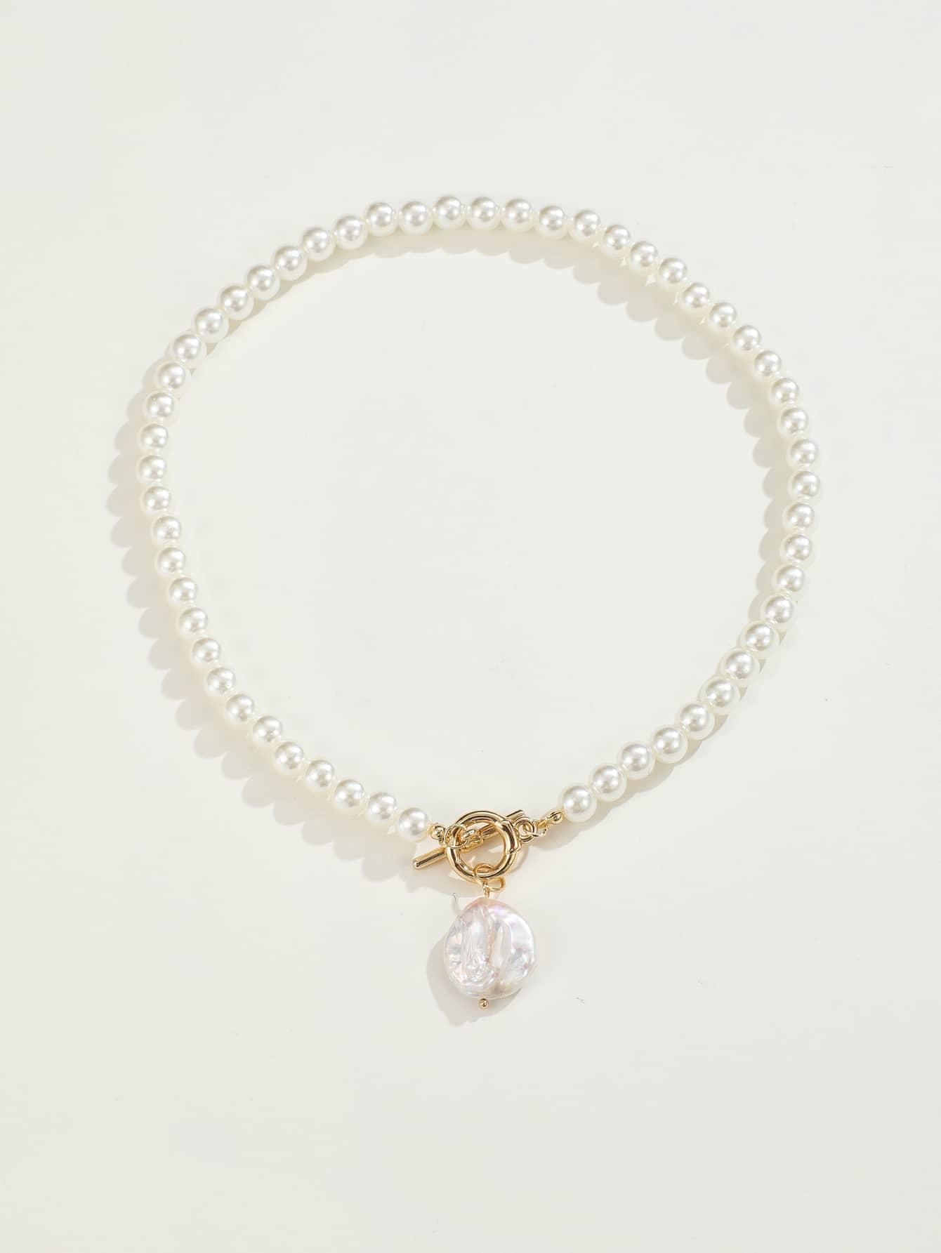 Faux Pearl Decor Necklace thumbnail