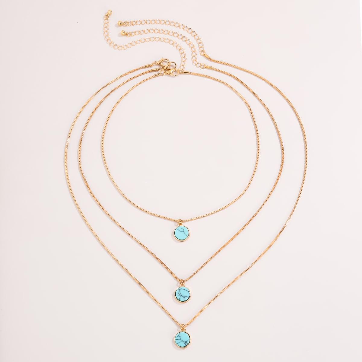 3 Stücke Halskette mit Stern Anhänger