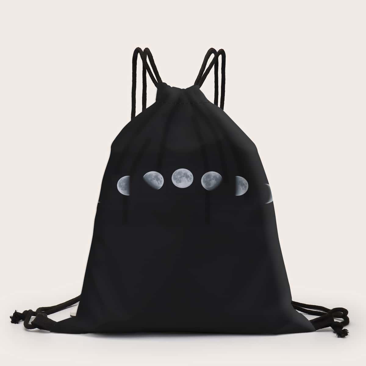 Рюкзак на кулиске с принтом луны