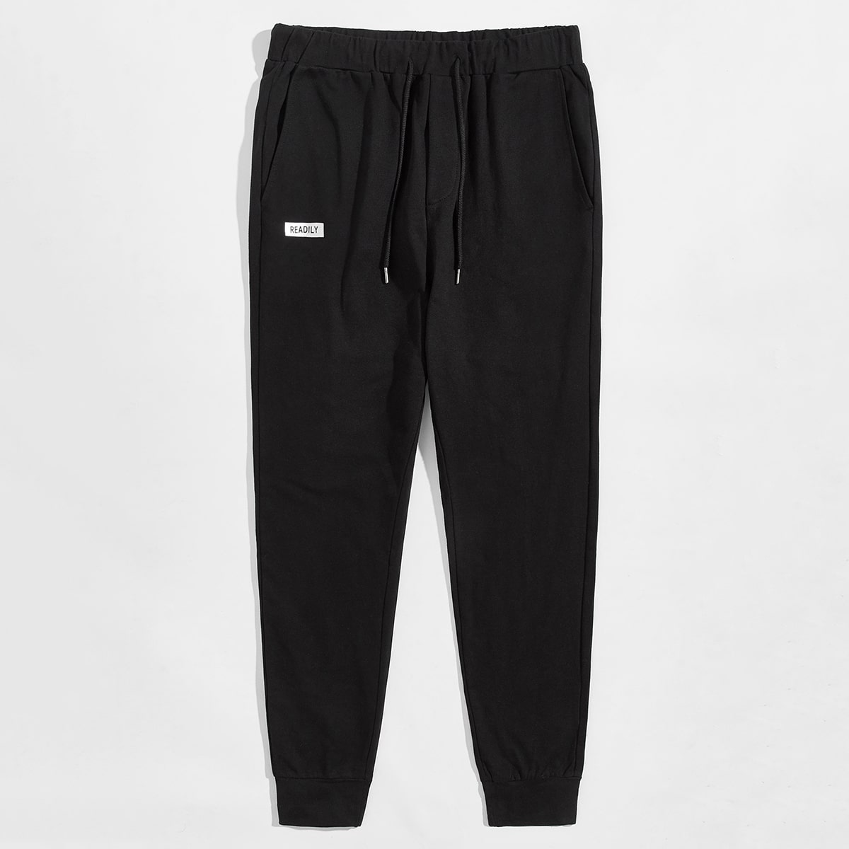 Men Letter Graphic Drawstring Waist Sweatpants