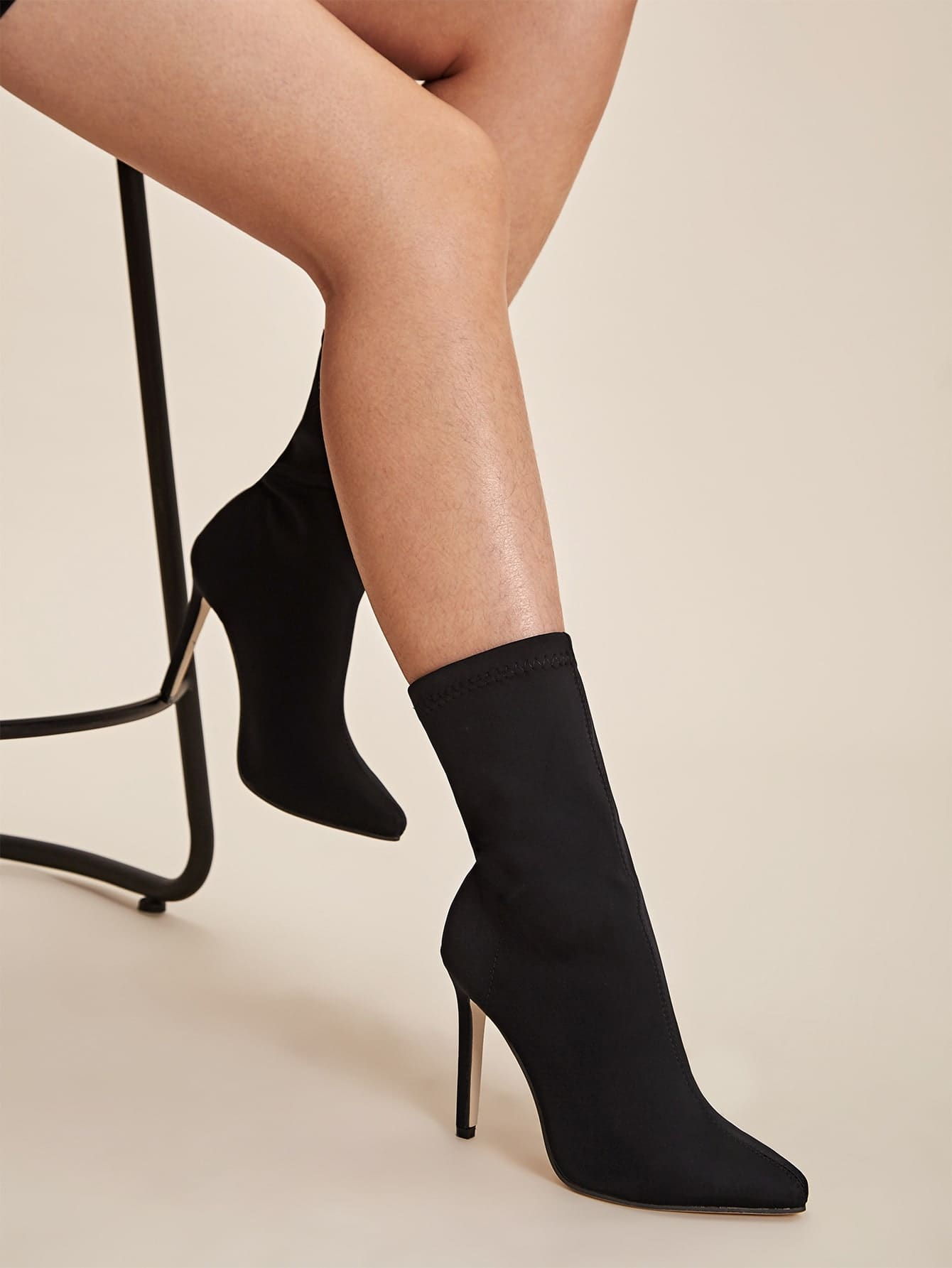Point Toe Stiletto Sock Boots