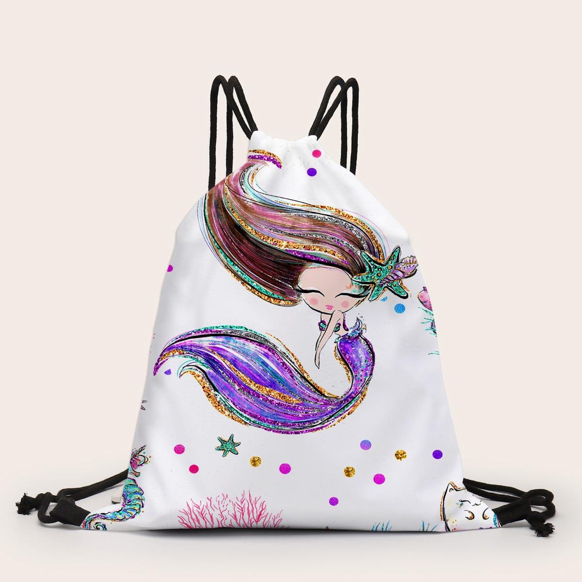 Рюкзак с рисунком русалки