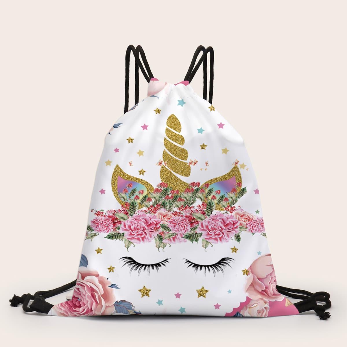 Рюкзак с рисунком единорога
