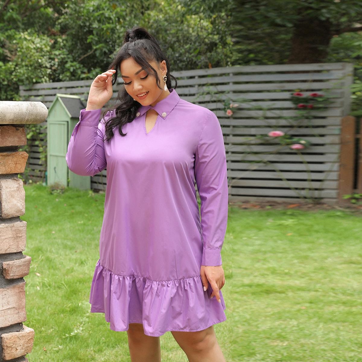 Оригинальное платье размера плюс