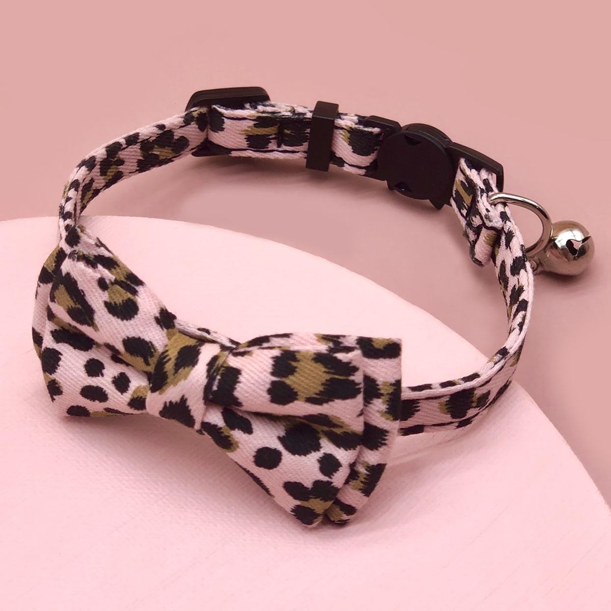 1 Stück Katze Halsband mit Leopard Muster