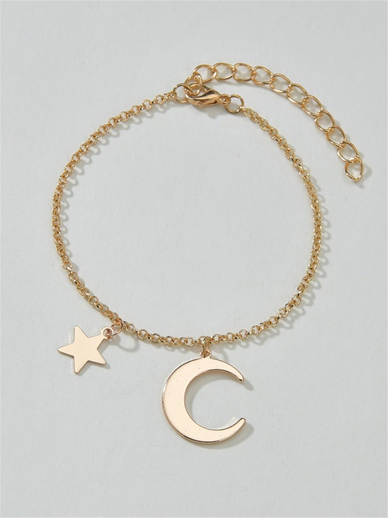 Moon & Star Decor Bracelet thumbnail
