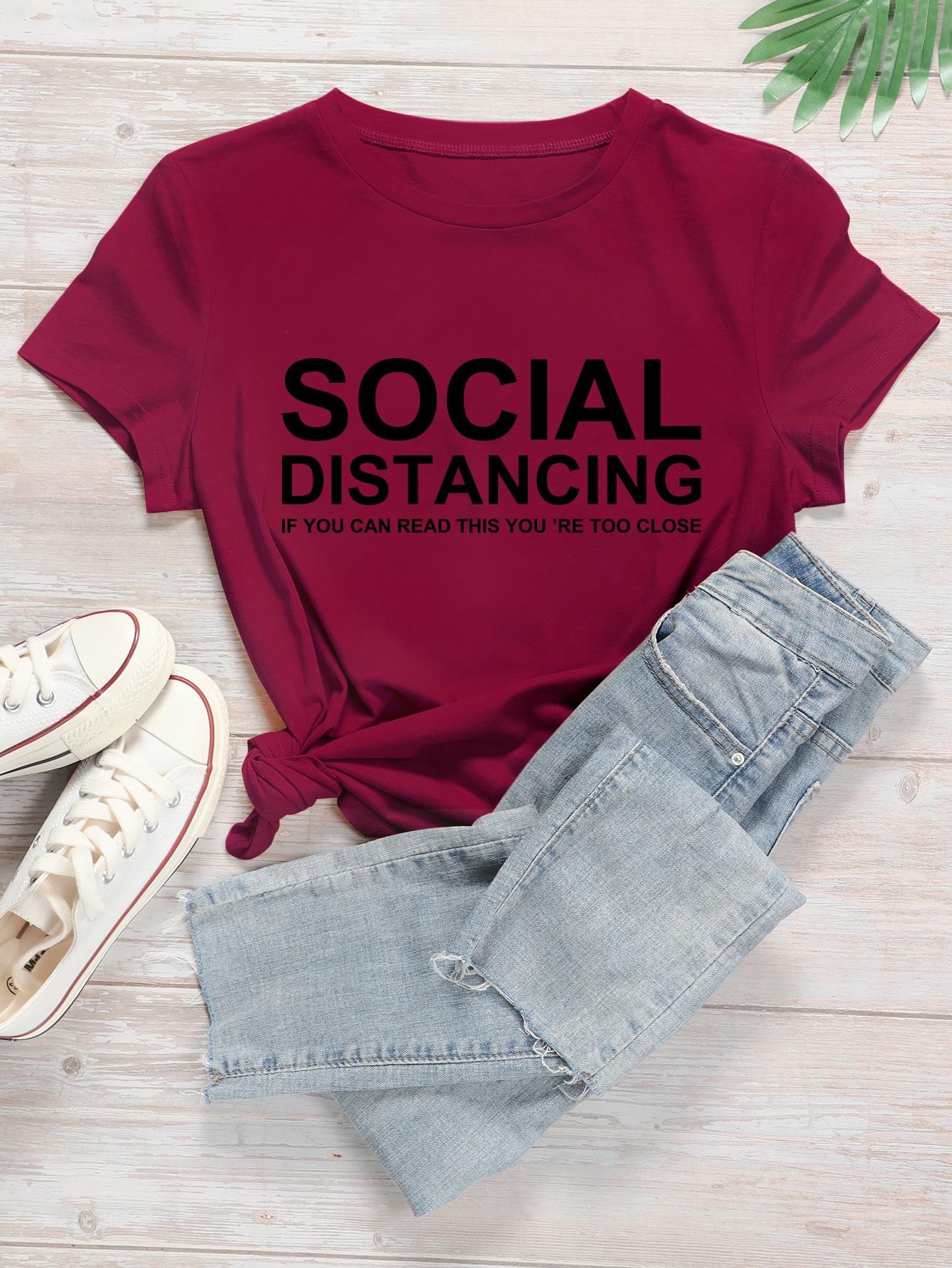 Plus Social Distancing Graphic Tee thumbnail