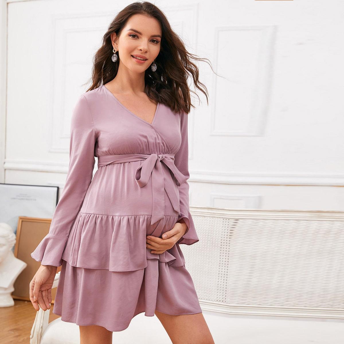 Многослойное платье для беременных
