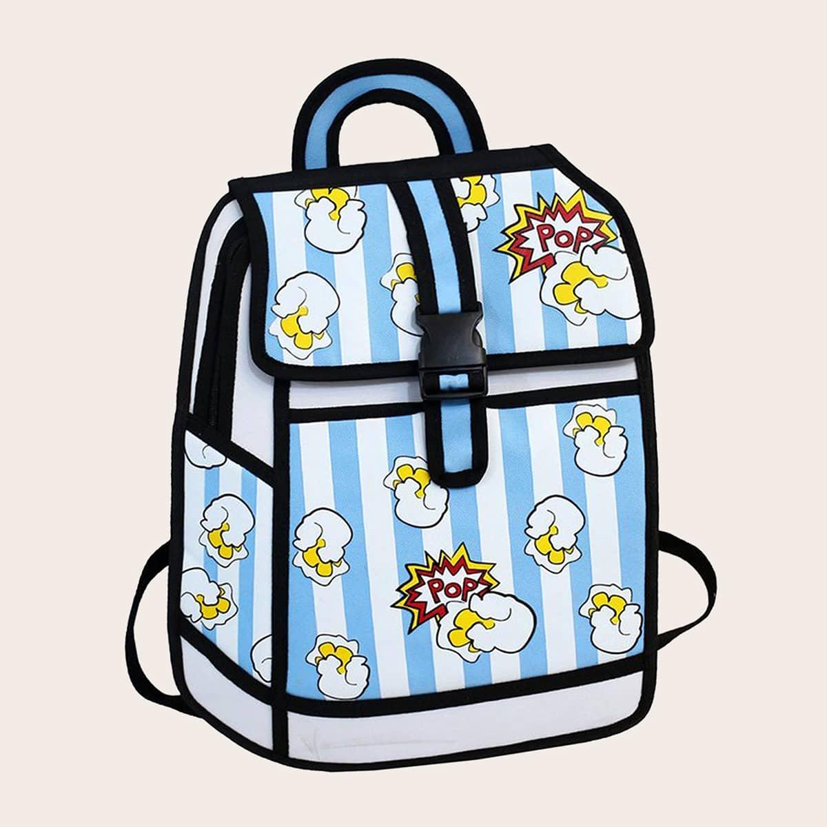 Рюкзак большей емкости с мультипликационным принтом