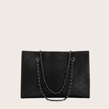 Quilted Tote Bag With Inner Pouch