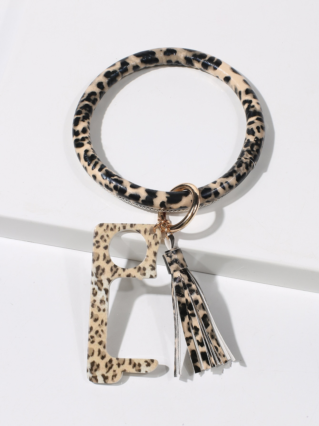 Leopard Pattern Charm Keychain thumbnail