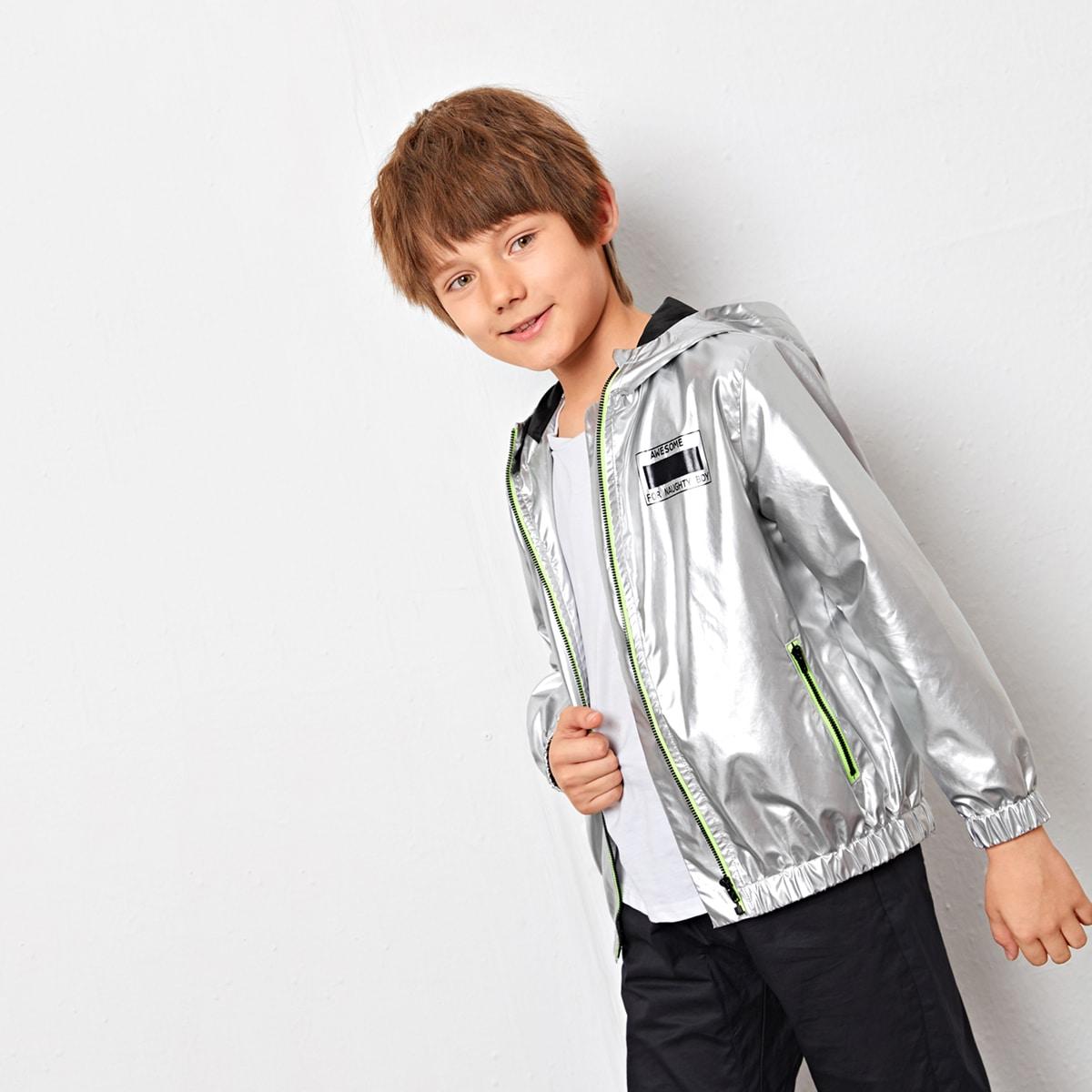 Куртка на молнии с капюшоном для мальчиков