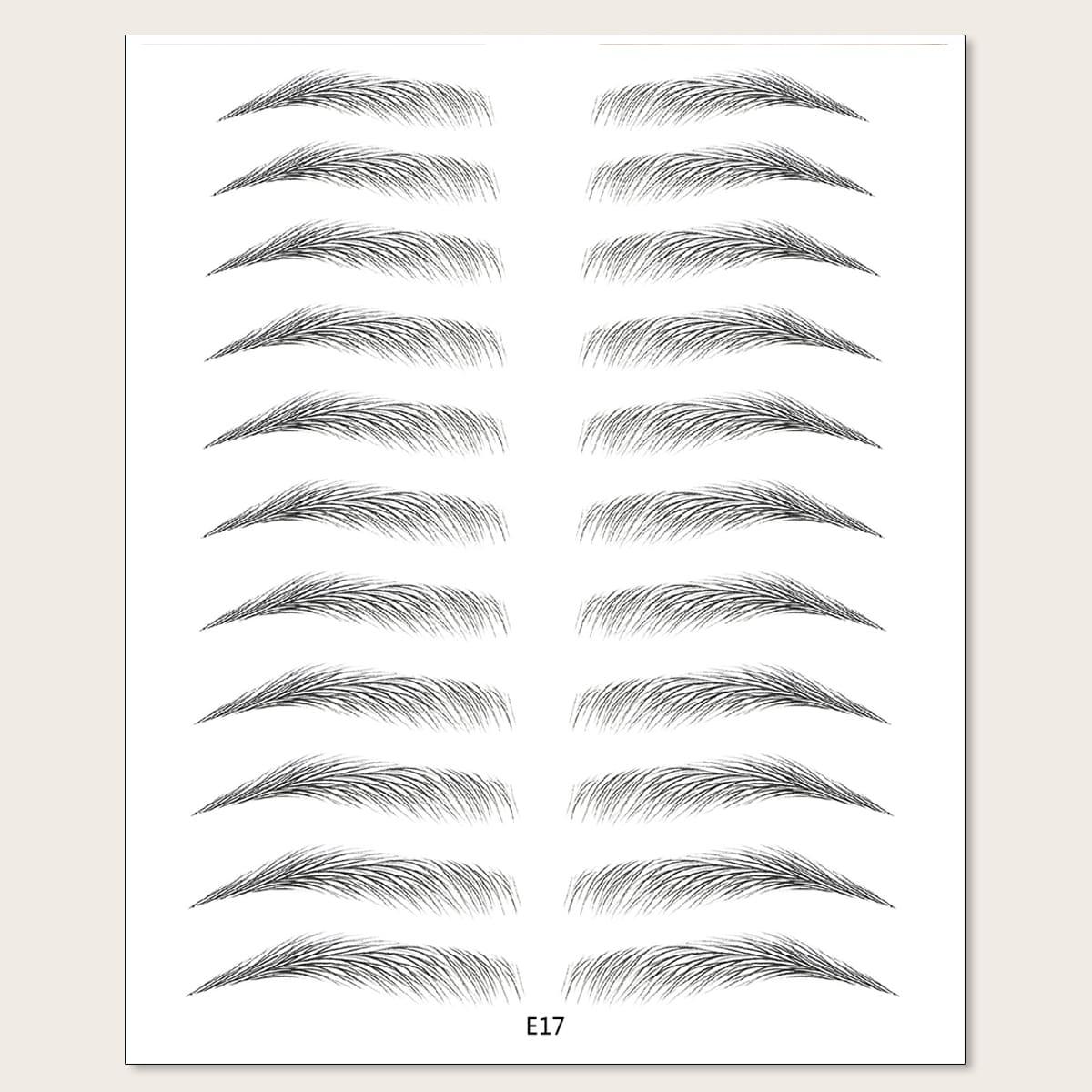 11 paires Faux sourcils - tatouages éphémères