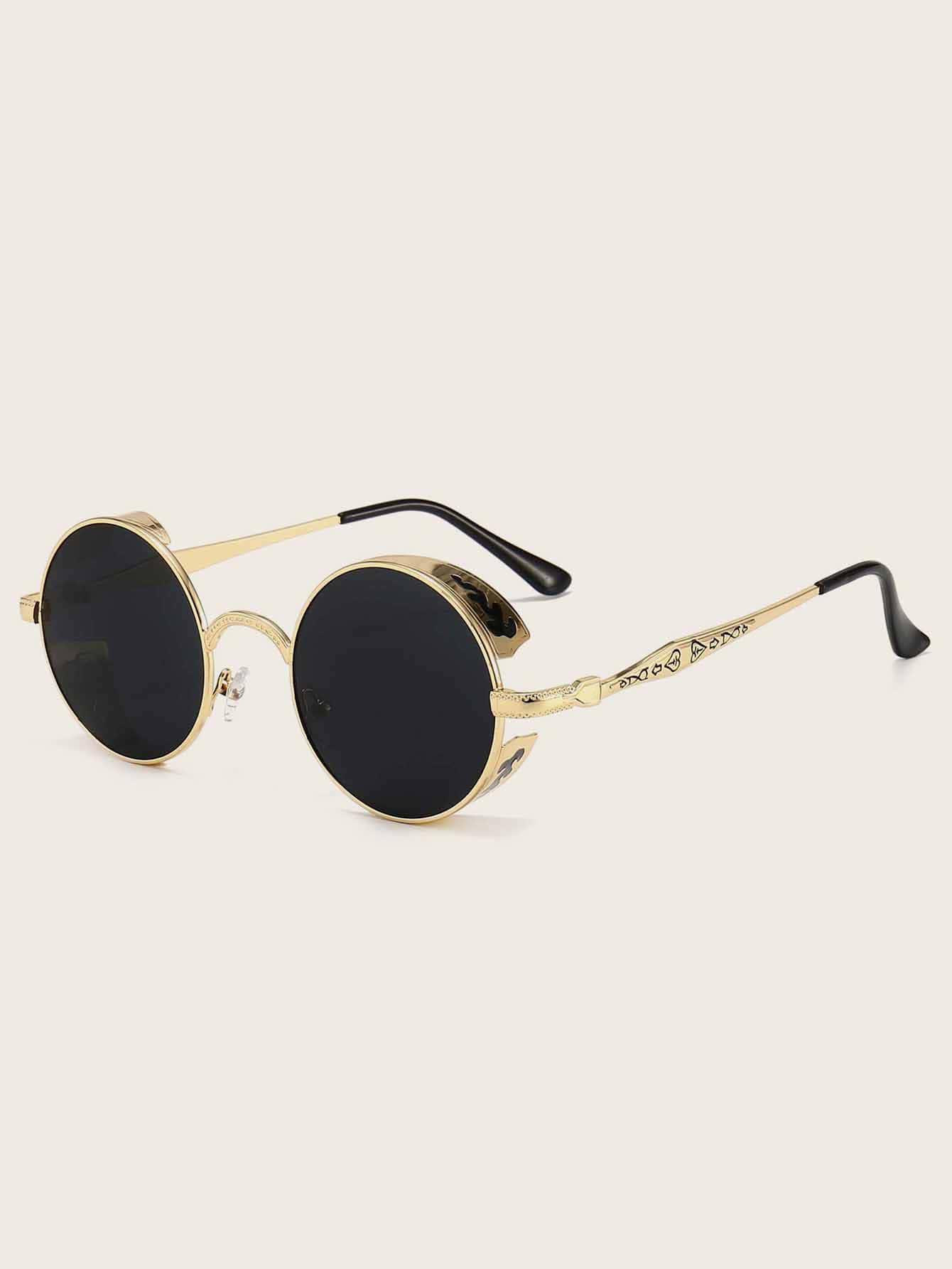 Tinted Lens Round Frame Sunglasses thumbnail