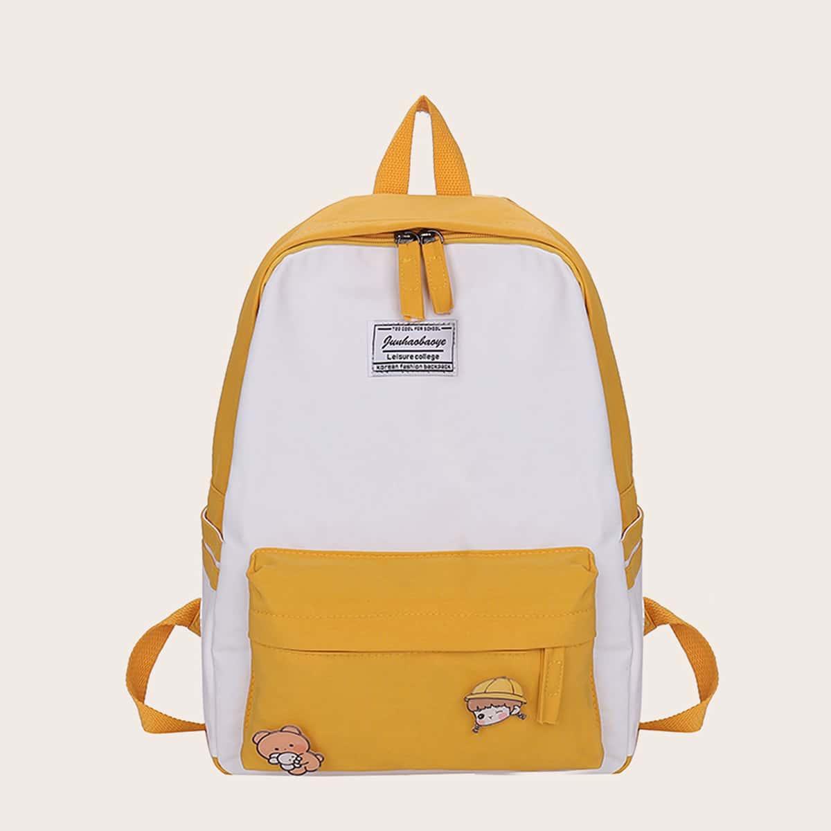 Контрастный рюкзак большей емкости