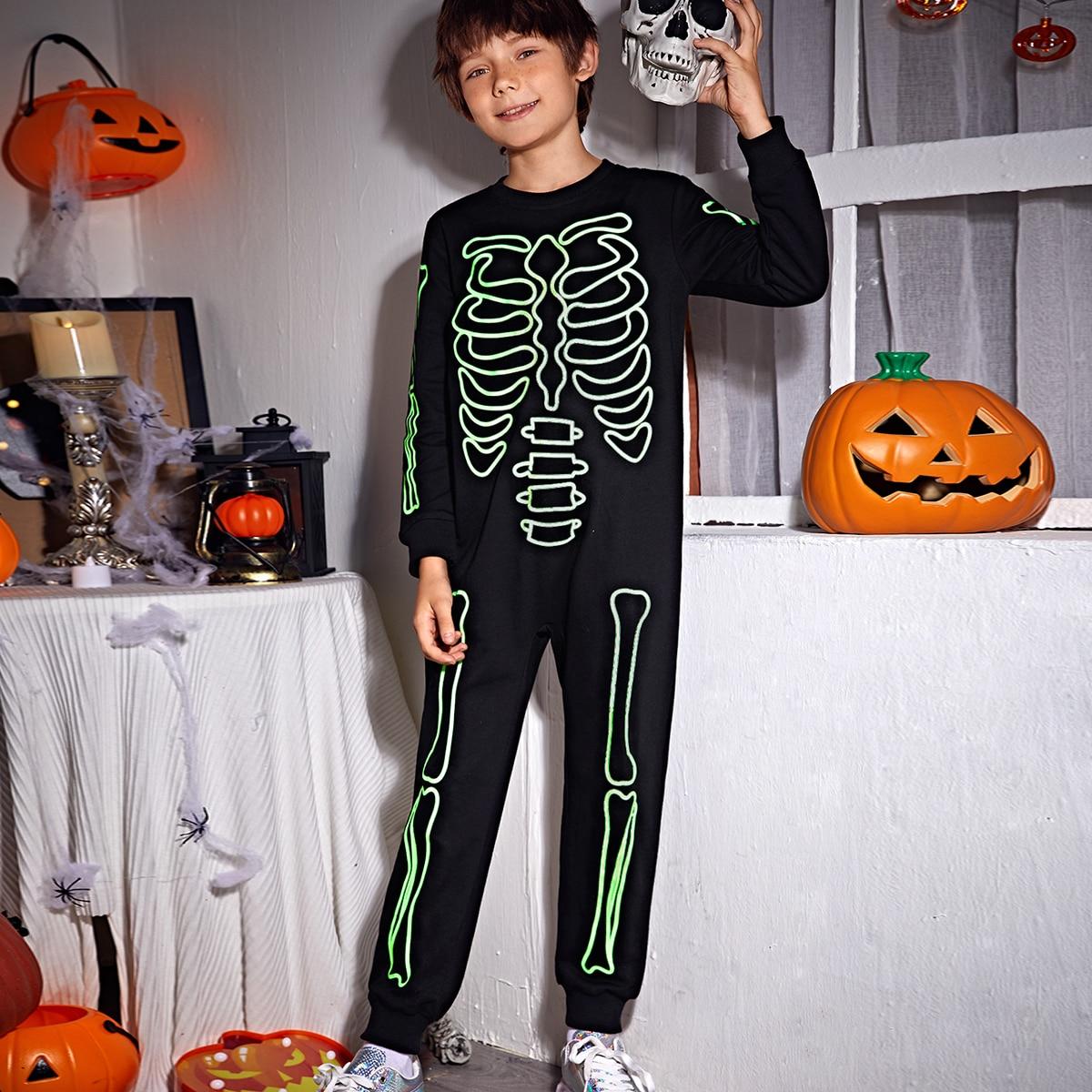 На молнии хэллоуин повседневный комбинезоны для мальчиков
