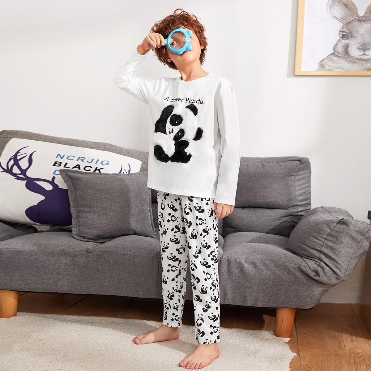 Пижма с принтом панды для мальчиков