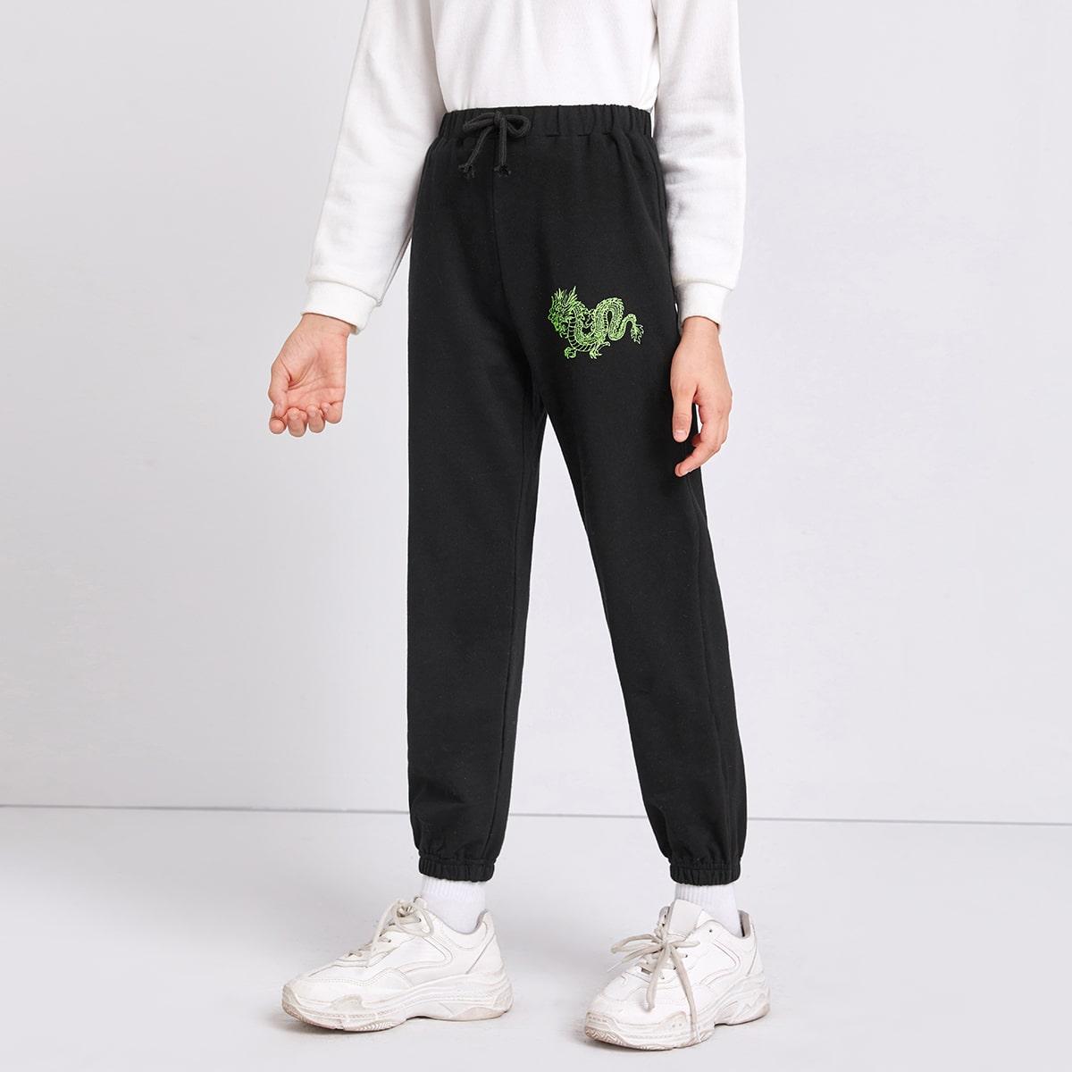 С бантом с животными повседневный брюки для девочек