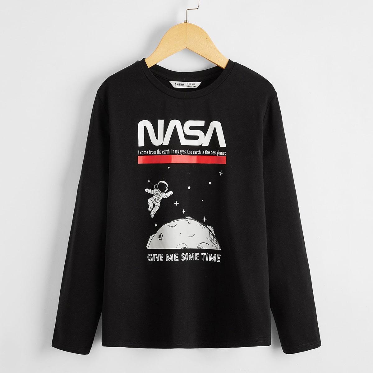 Пуловер с оригинальным принтом для мальчиков