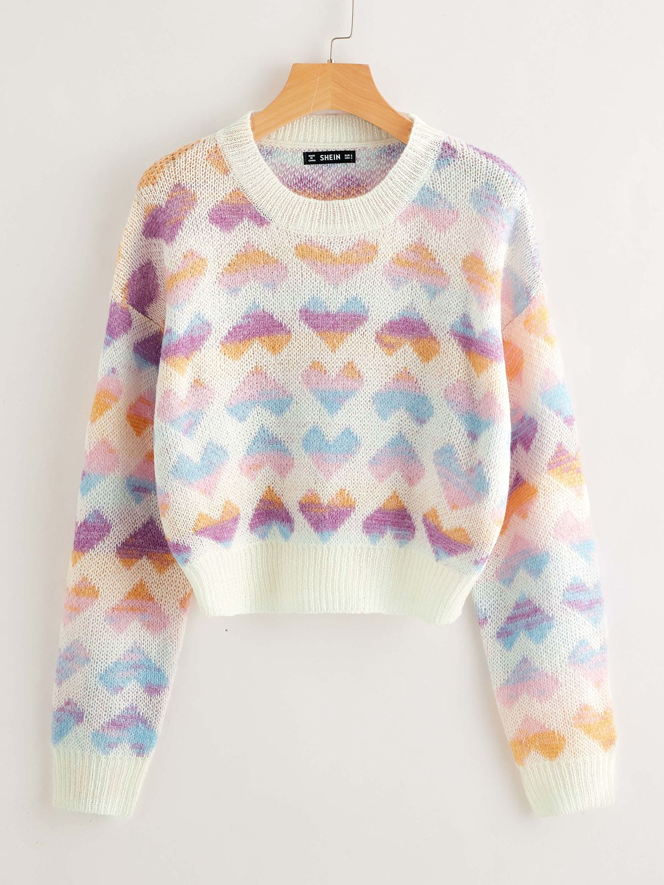 Drop Shoulder Heart Sweater thumbnail