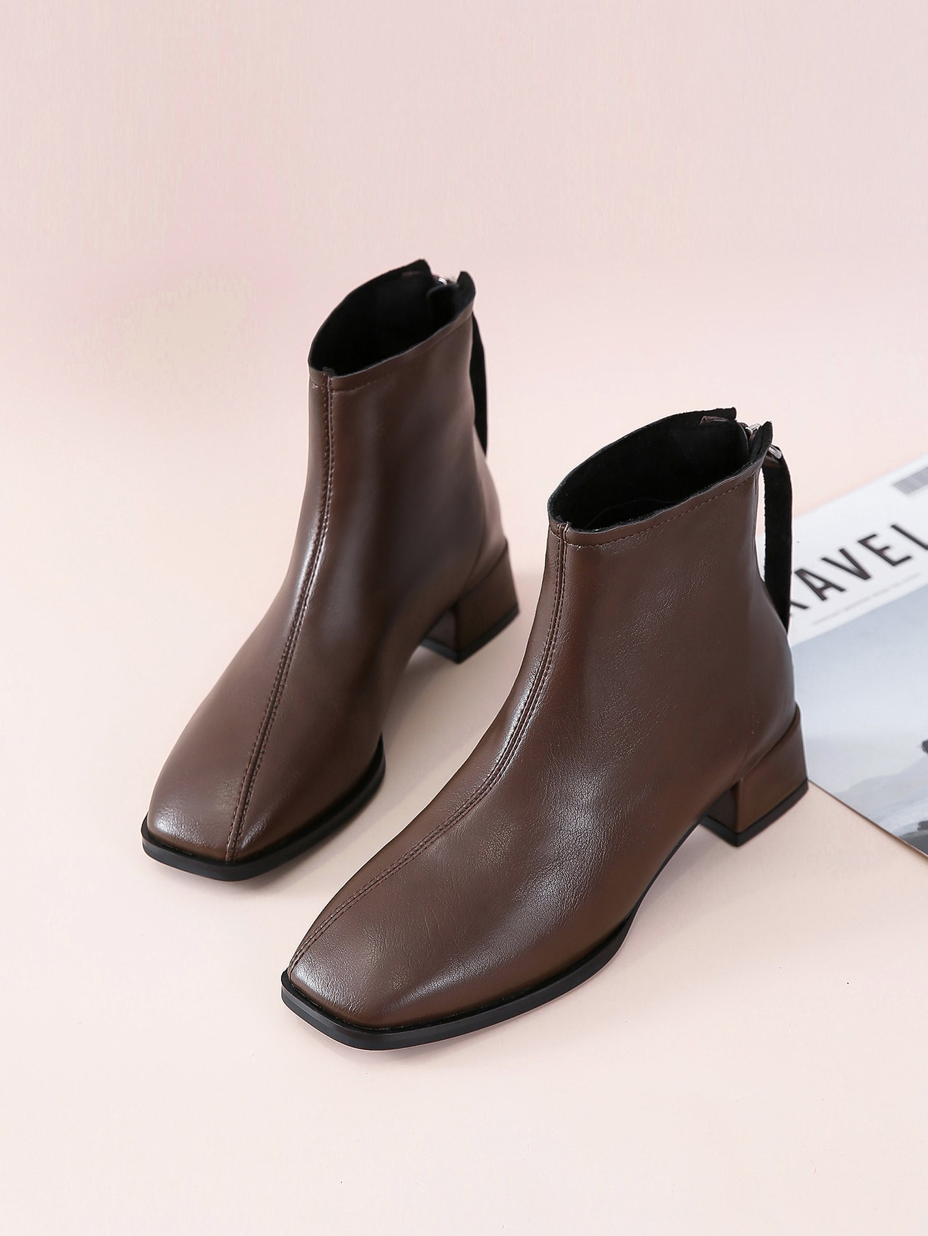Minimalist Wide Fit Block Boots