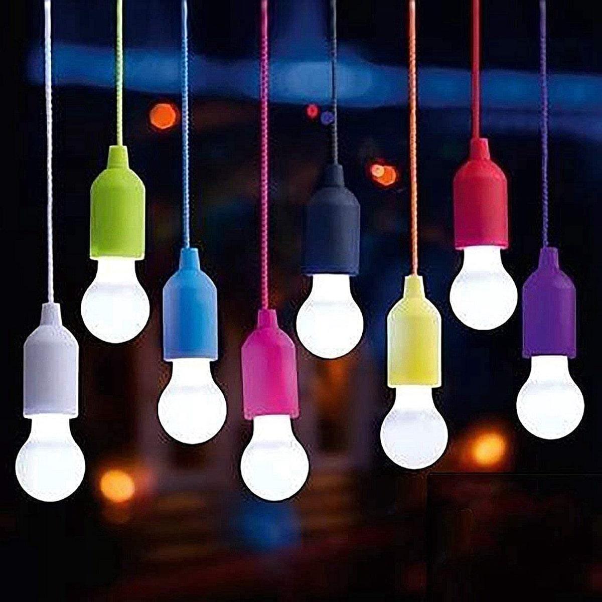 1 Stück Zufällige Farbe Lampe mit Drahtschalter