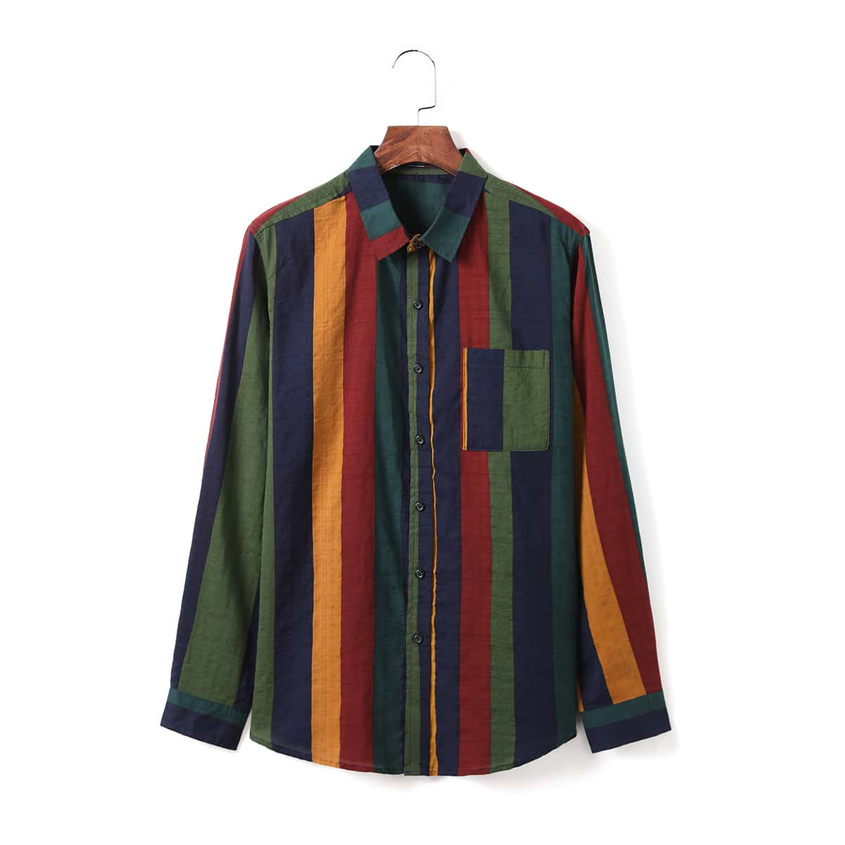 Карман полосатый отпуск мужские рубашки