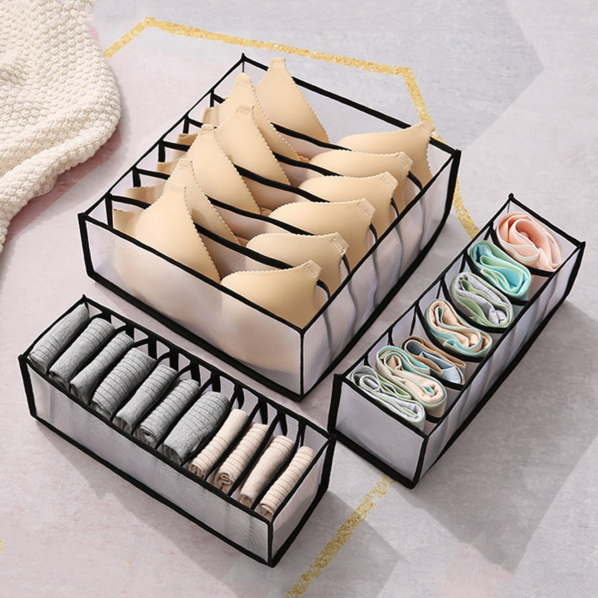 Ящик для хранения нижнего белья 3шт