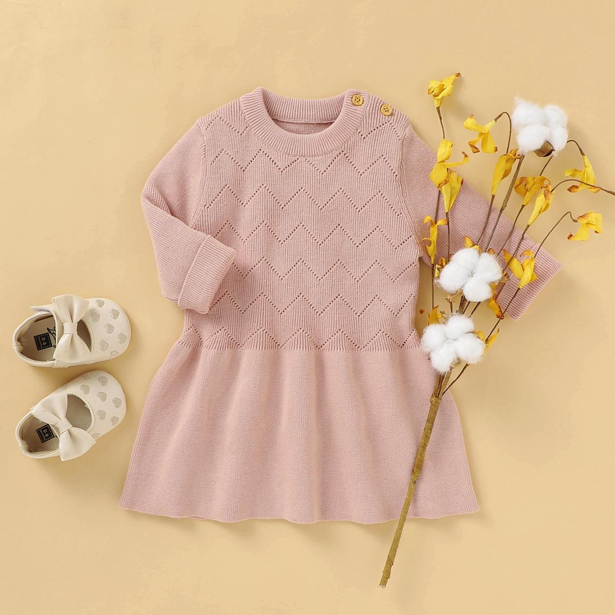 С разрезом одноцветный повседневный трикотажные платья для девочек