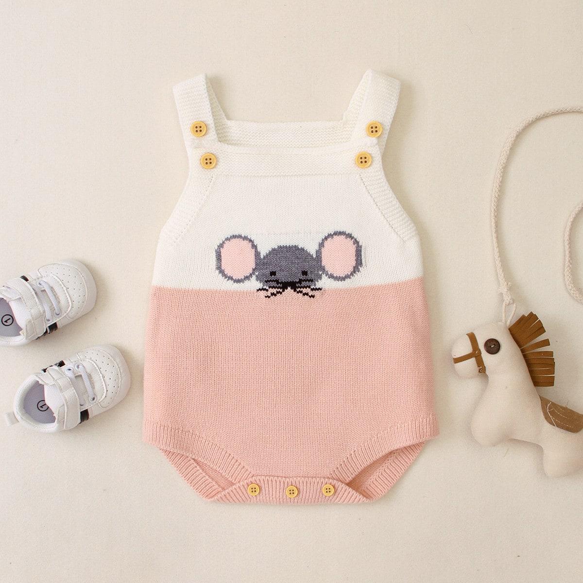 На пуговицах контрастный цвет повседневный трикотажные комбинезоны для малышей