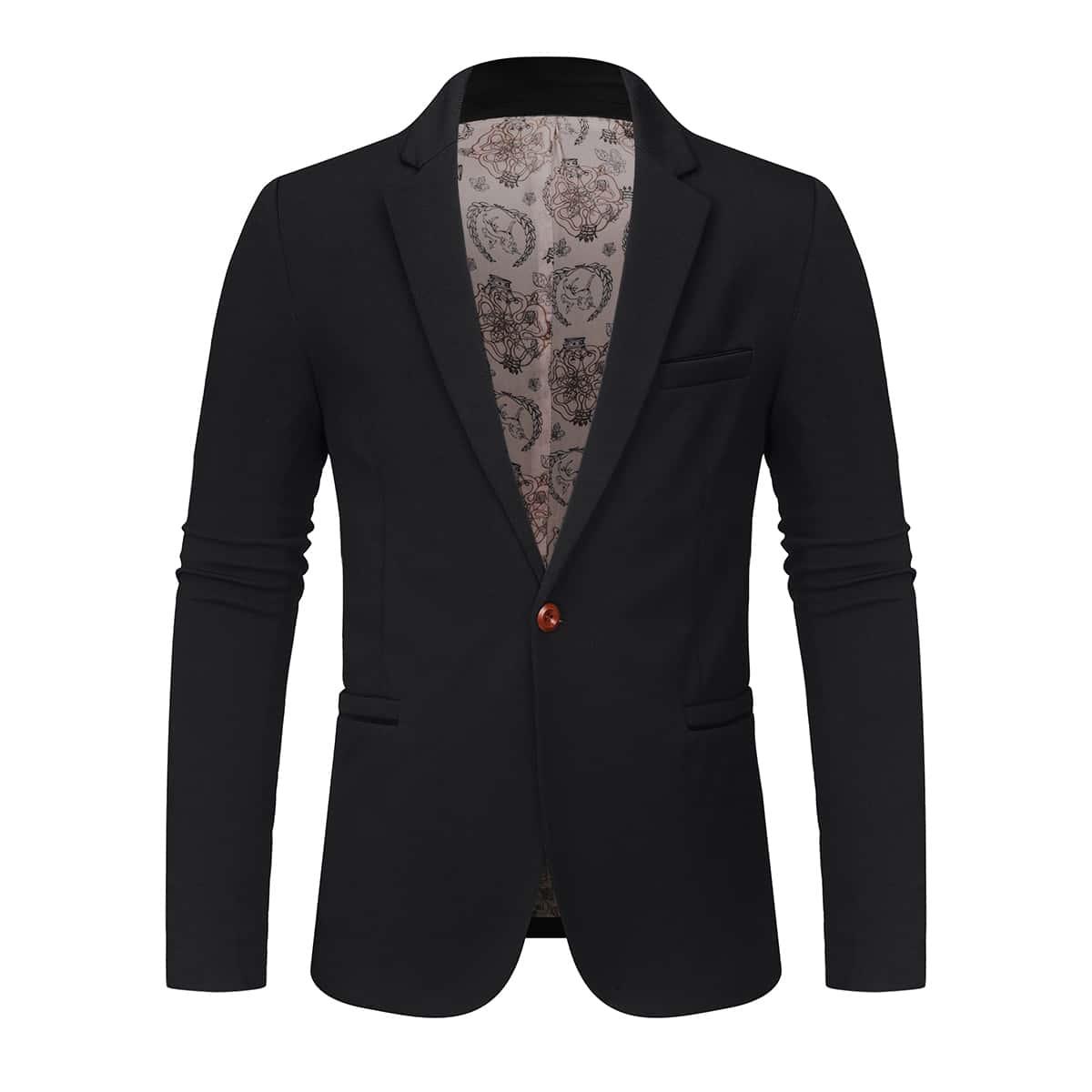 Мужской пиджак с пуговицей и лацканом