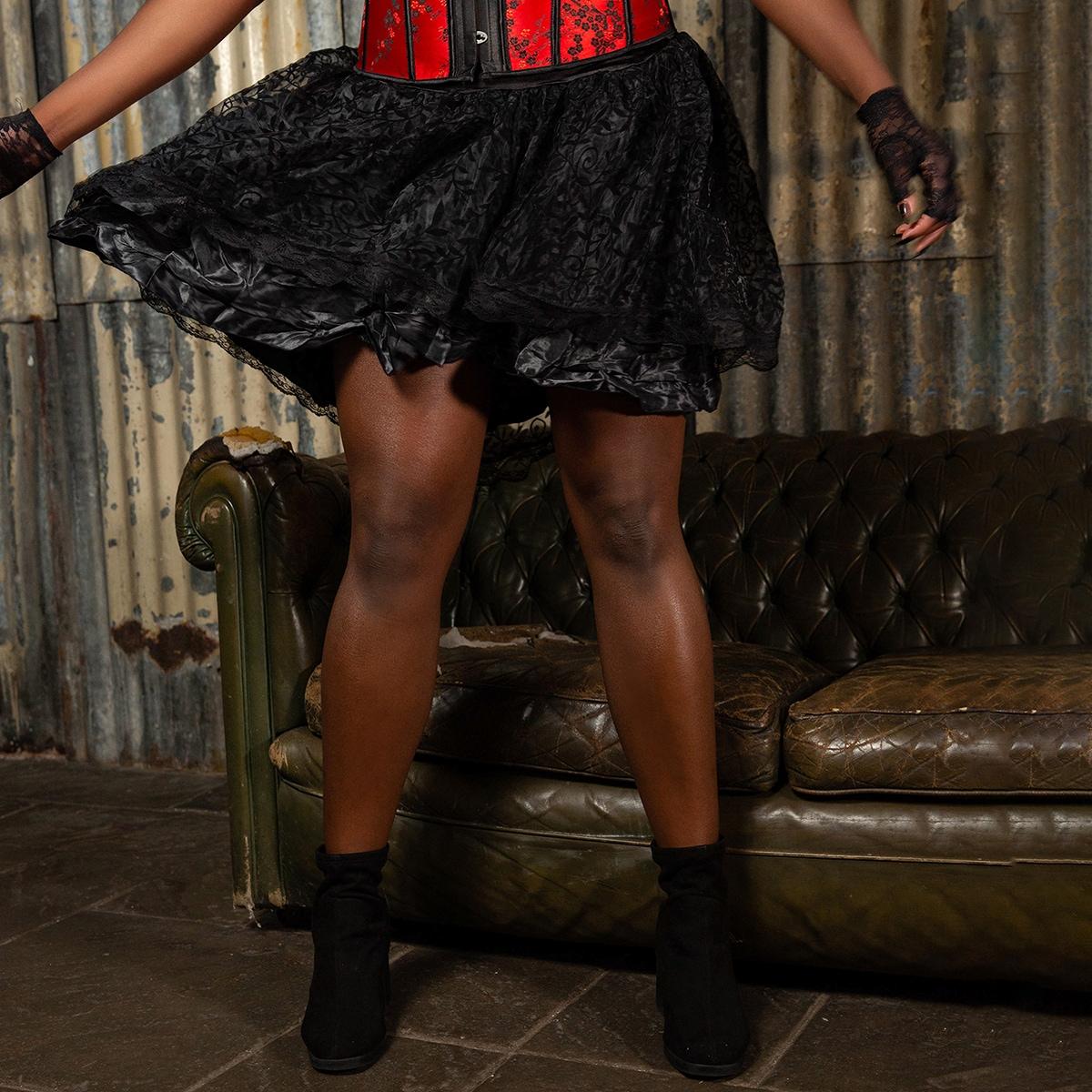 Асимметричный одноцветный очаровательный юбки размер плюс