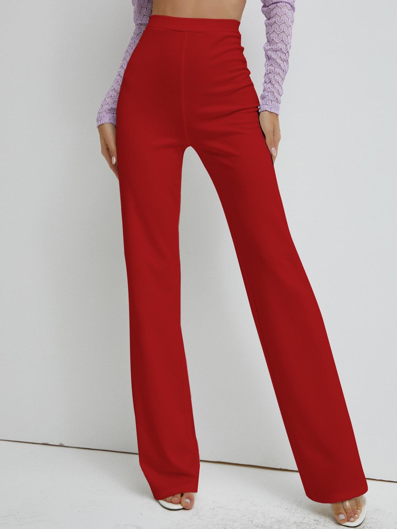High Waist Straight Leg Pants thumbnail