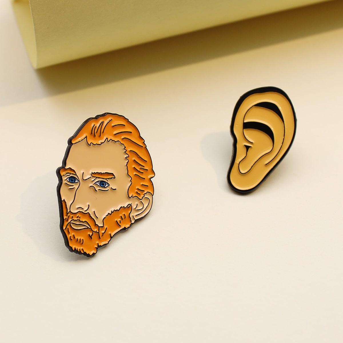 2 Stücke Brosche mit Figur Design