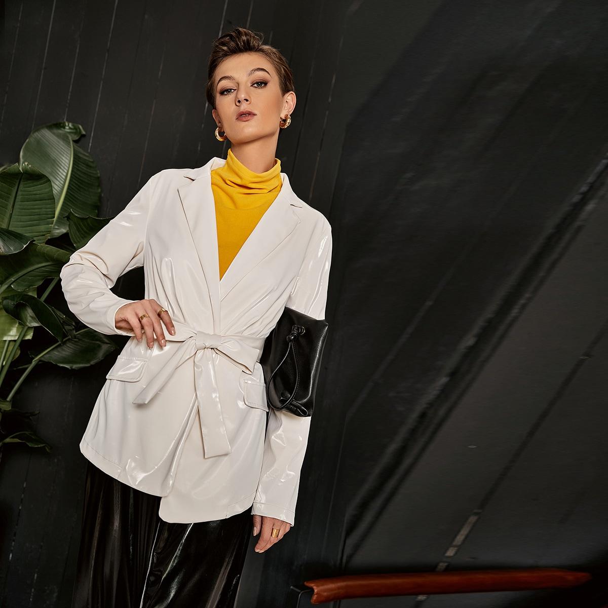 Оригинальный пиджак с поясом