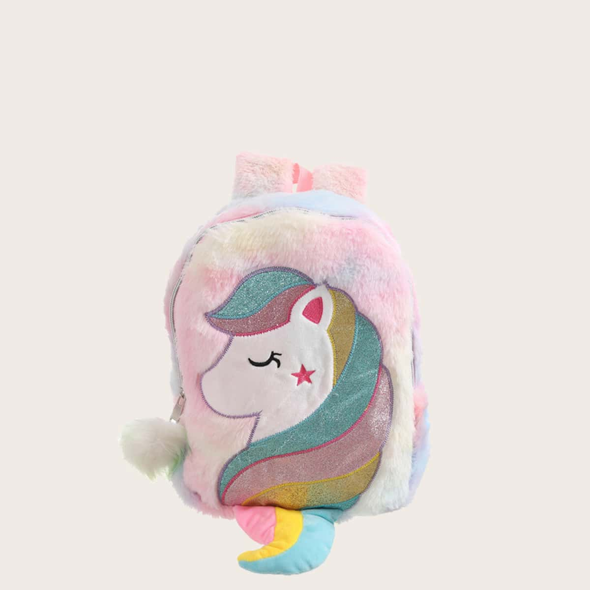Girls Unicorn Graphic Fluffy Decor Backpack, SHEIN  - buy with discount