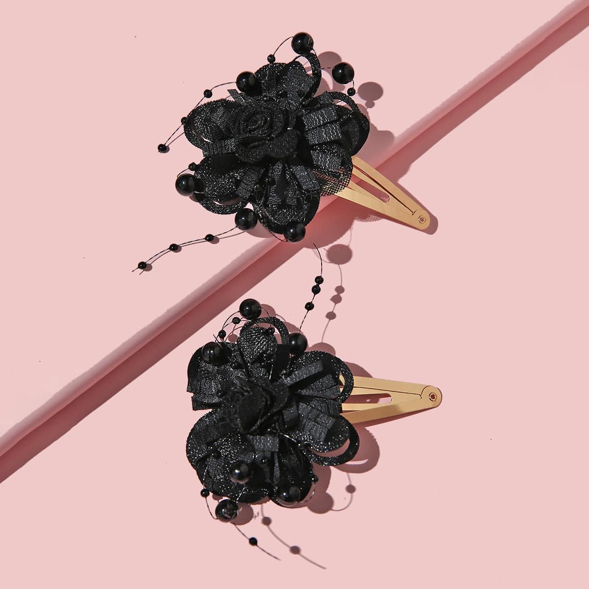 1 Paar Kleinkind Mädchen Haarklemme mit Blumen Dekor