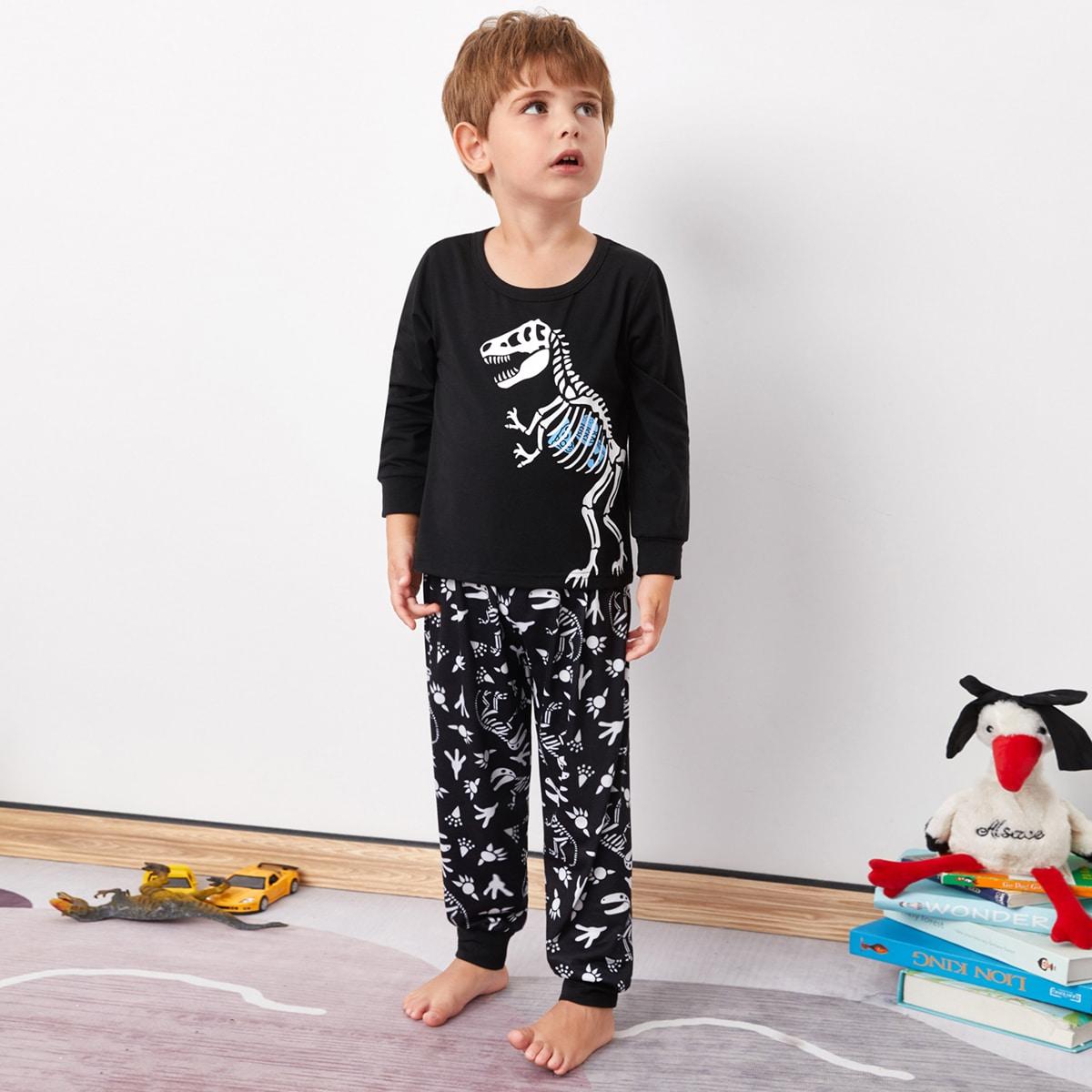 Пижама с мультипликационным принтом для мальчиков