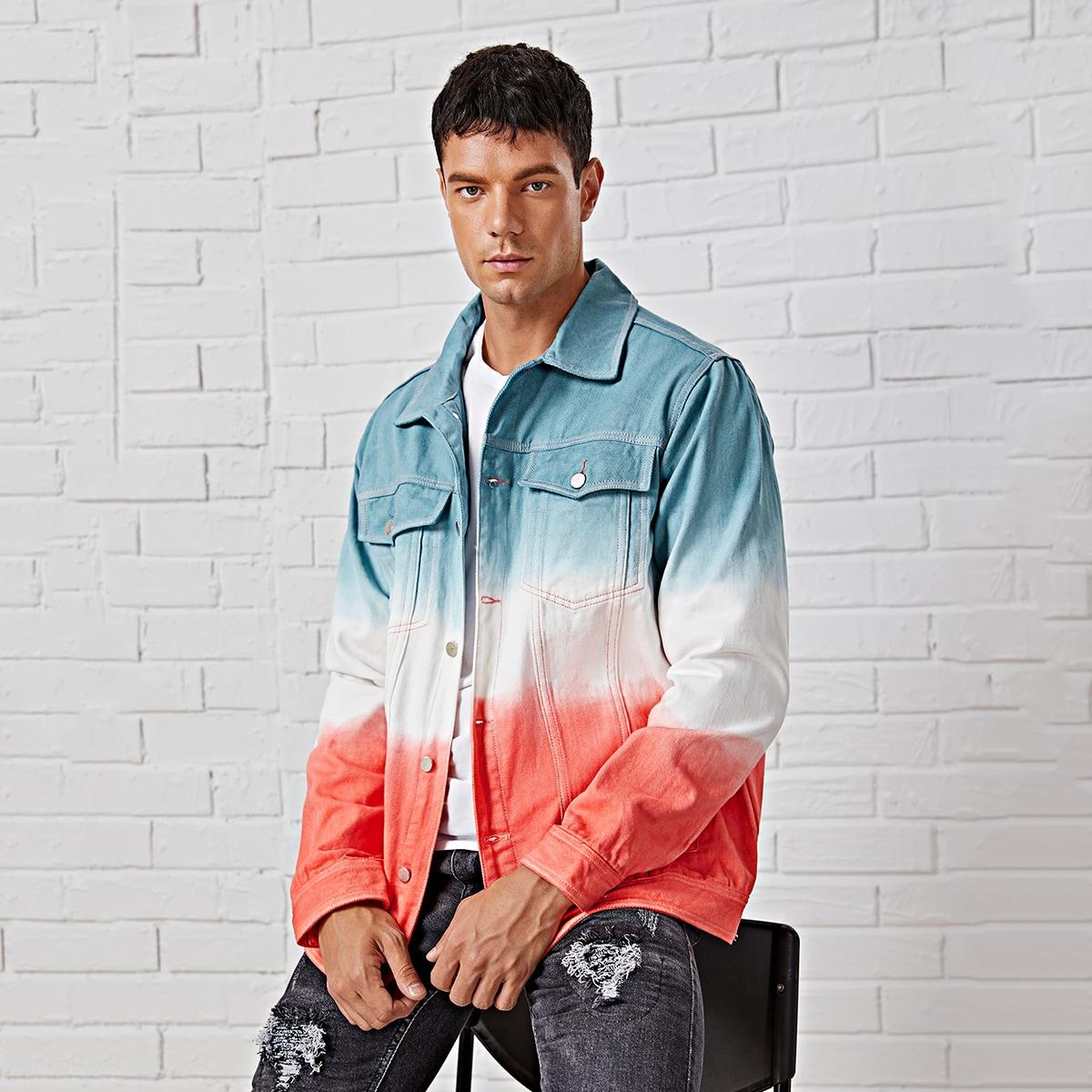 Пуговица контрастный цвет мужские джинсовые куртки