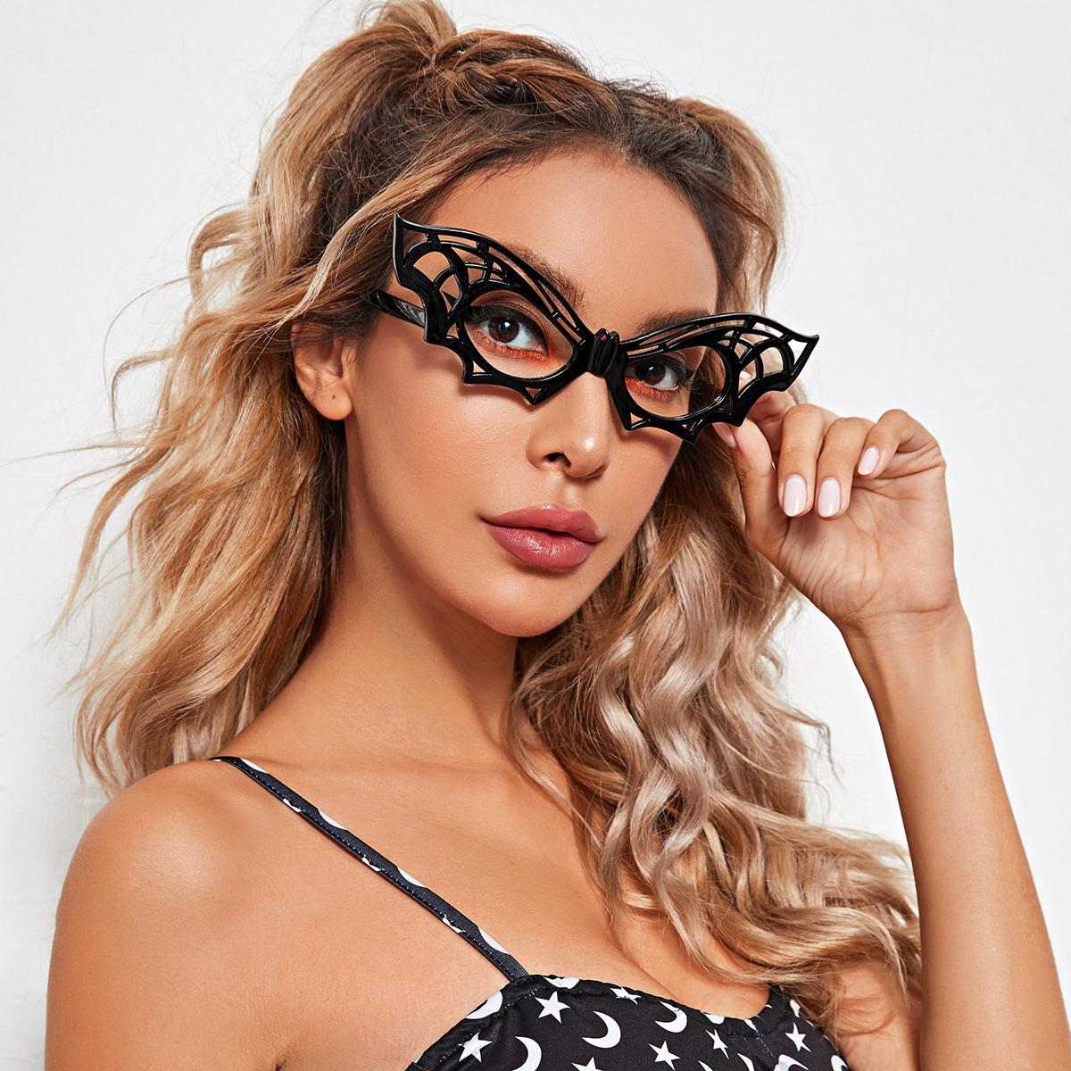 Хэллоуин солненные очки в форме летучей мыши