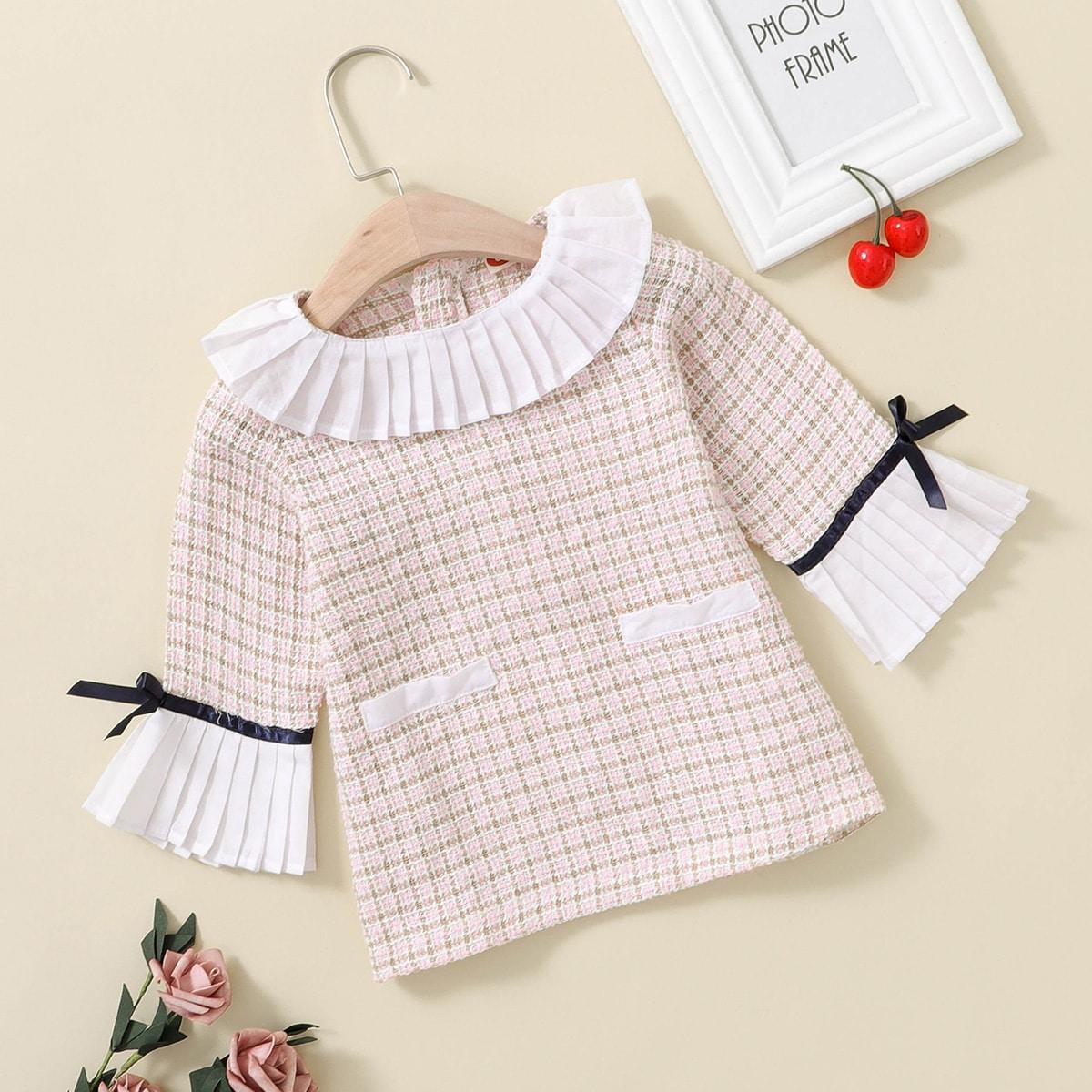 Твидовое платье для девочек от SHEIN